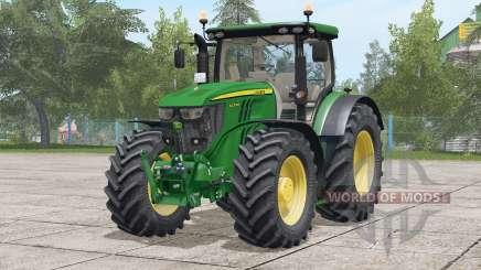 John Deere série 6R 〡 hydraulique arrière révisée pour Farming Simulator 2017