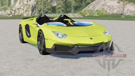 Lamborghini Aventador J 2012 pour Farming Simulator 2017