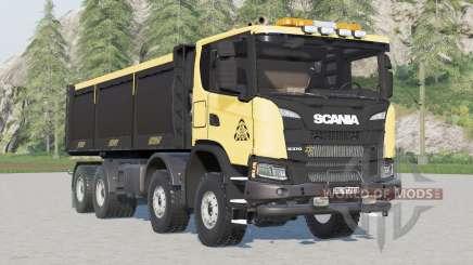Scania G 370 XT 8x8 Kipper 2017〡FS Miners Edition für Farming Simulator 2017