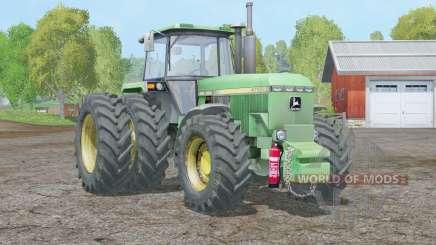 John Deere 4755〡 roues arrière individuelles pour Farming Simulator 2015
