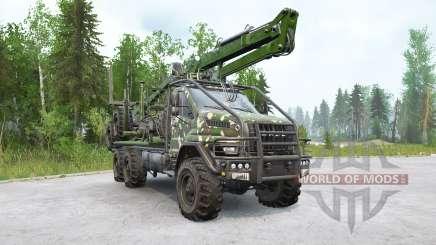 Ural Next (4320-74E5) camion de bois avec manipulateur pour MudRunner