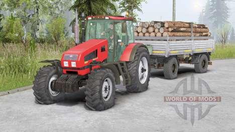 MTZ-1523 Biélorussie〡était avant mobile pour Spin Tires