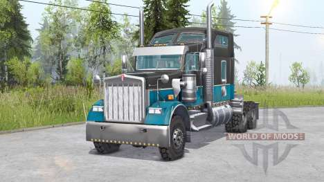 Kenworth W900 6x6 v1.1 pour Spin Tires