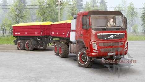 Volvo FM 460 6x6 starre Tageskabine 2010 für Spin Tires