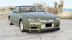 Nissan Skyline GT-R V-spec II (BNR34) 2002 pour BeamNG Drive