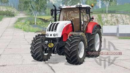 Steyr 6230 CVT〡dynamischer Auspuff für Farming Simulator 2015
