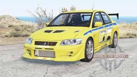 Mitsubishi Lancer Evolution VII 2 Fast 2 Furious pour BeamNG Drive
