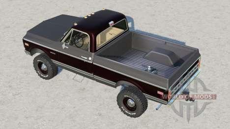 Chevrolet K30 Cheyenne Fleetside 1972 pour Farming Simulator 2017