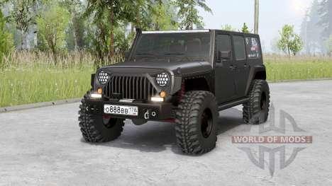Jeep Wrangler Rubicon Illimité (JK) 2006 pour Spin Tires