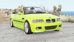 BMW M3 Convertible (E46) 2001 pour BeamNG Drive